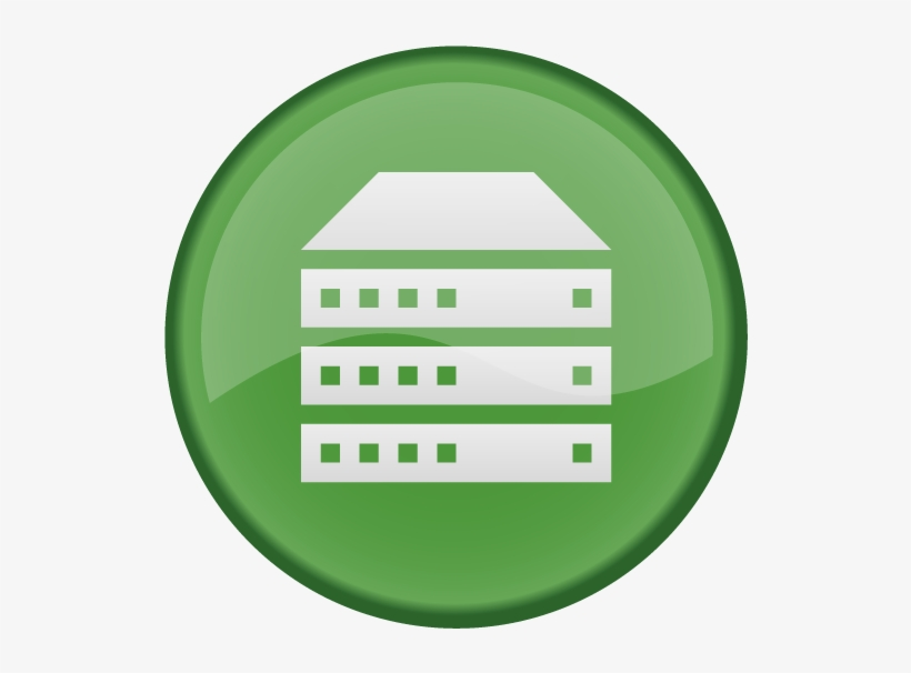 Free Application Server Icon Png - Web Server Green Icon PNG