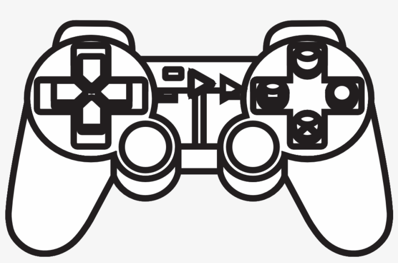 Drawn Controller Black And White