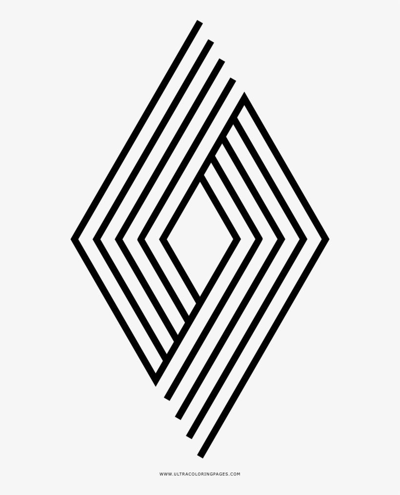 Dibujo De Rombo Para Colorear Lozenge Shape Png Image