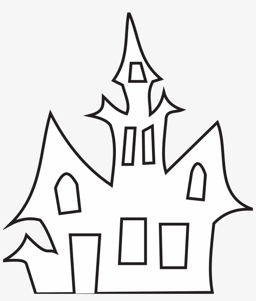 Haunted House Clipart Cool House Haunted House Black And