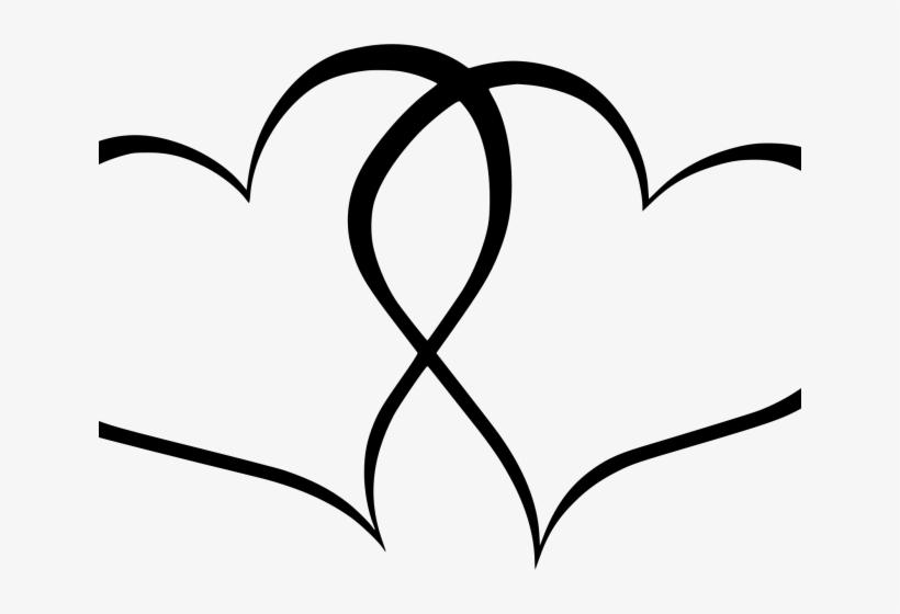 Heart rustic. Vector transparent double clipart
