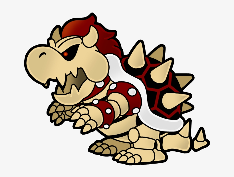 Dry Paper Bowser By The Paper Mario Dry Bowser Png Image