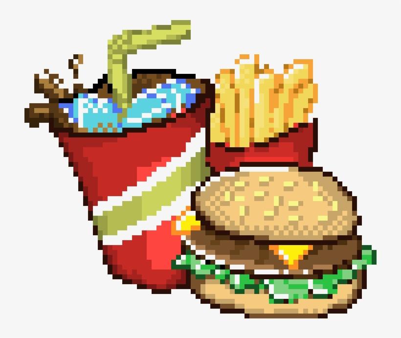 Fast Food Big Pixel Art Grid Png Image Transparent