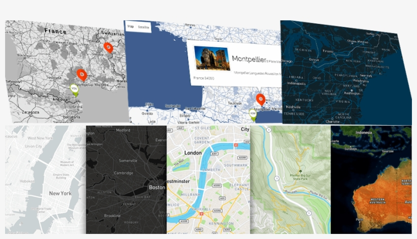 Google Maps Design And Different Map Types - Map PNG Image ...