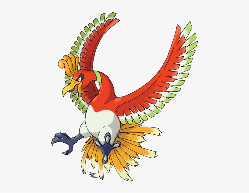 Hooh Png Pokemon Legendaire Ho Oh Png Image Transparent