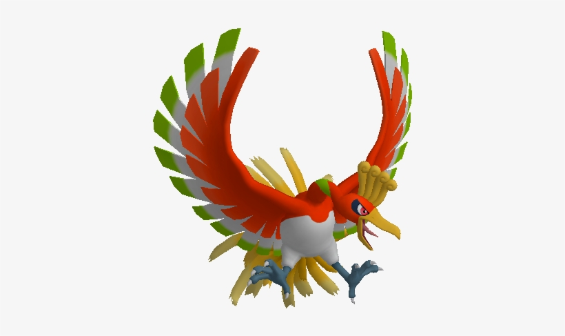 Ho-oh Trophy Imported From Smash Wii U - Ho Oh 3d Model PNG