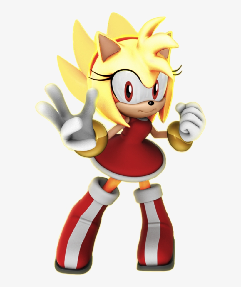 If Amy Was In Mania Plus We D Be Able To See Super Sonic The Hedgehog Super Amy Png Image Transparent Png Free Download On Seekpng