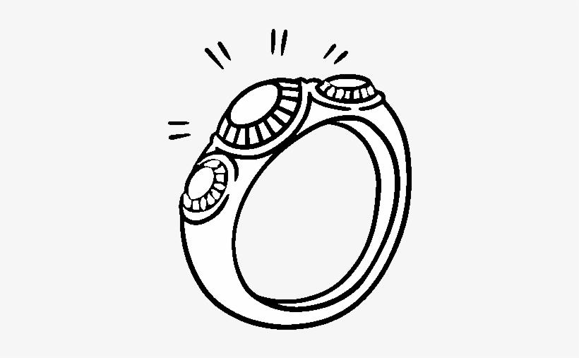 como escoger auténtica venta caliente diseño moderno Dibujo De Anillo Con Diamantes Para Colorear - Ring PNG ...