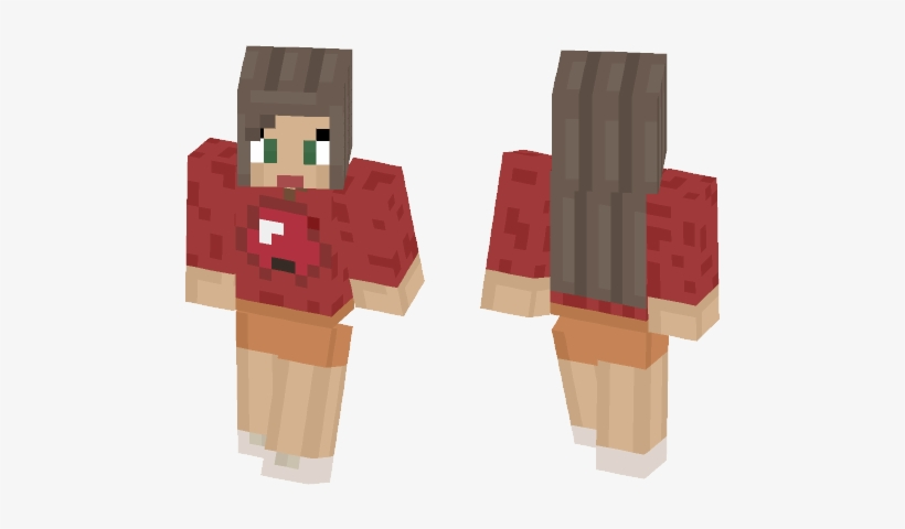 Apple Girl New Hair Shading Minecraft Skins Blackflash Png Image Transparent Png Free Download On Seekpng