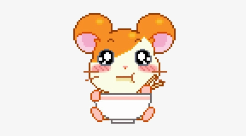Kawaii Cute Soft Hamtaro Japanese Japan Cartoon Eating
