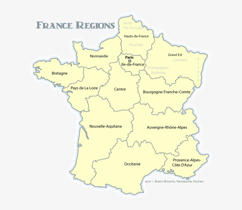France Regions Map Map Of France With Giverny Png Image