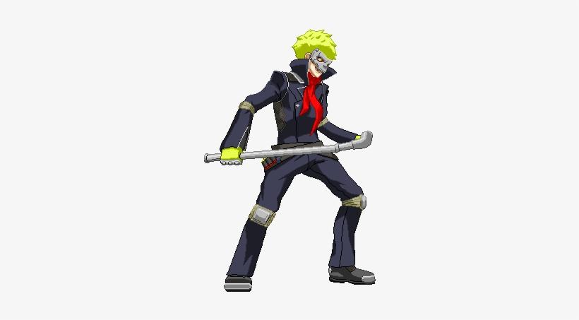 Ryuji Sakamoto Skull Persona 5 Character Art Png Image