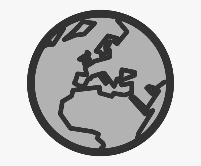 How To Set Use Grey Globe Icon Png - Globe Clip Art PNG