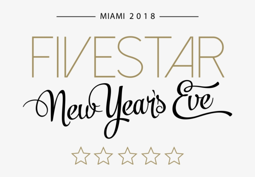 Fivestar New Year's Eve - New Years Eve Fonts PNG Image