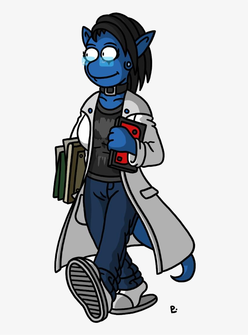 Joy The Friendly Alien Nurse Also Heavy Punk Rock Cartoon Png