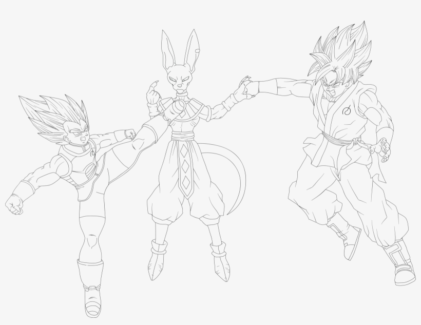 Coloring and Drawing: Goku Ssb Coloring Pages