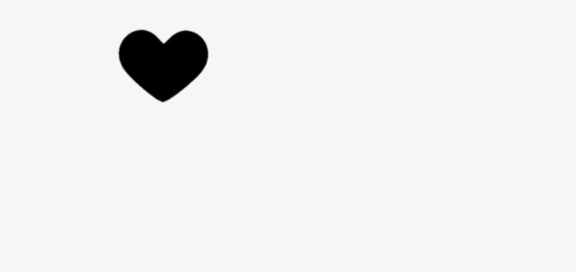 Heart Black Tumblr Ftestickers Wallpaper Heart Png Image