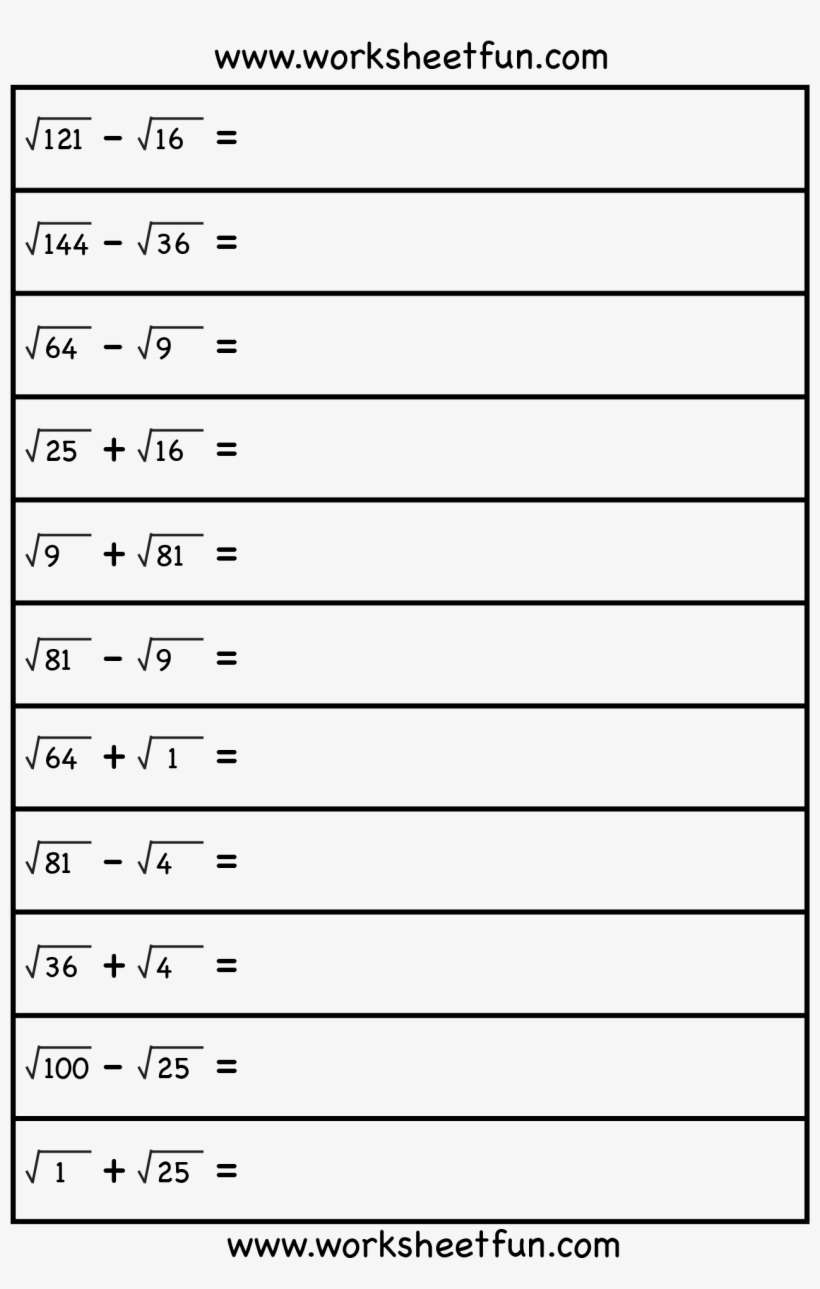 Square Root - 8th Grade Math Free Worksheets On Square ...