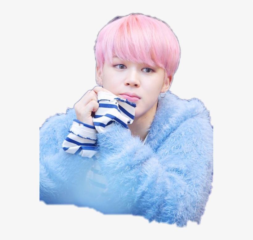 Free Download Jimin Cute Png Clipart Bts N - Pink Hair Men Kpop PNG