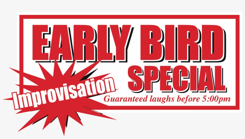 Early Bird Special Improvisation - Graphic Design PNG Image