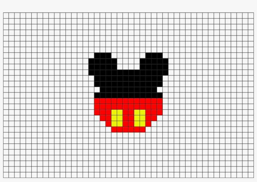 Mickey Mouse Pixel Art Png Image Transparent Png Free