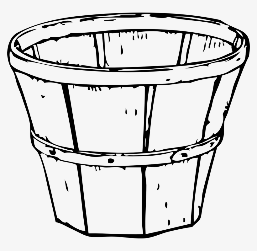 28 Collection Of Empty Apple Basket Clipart Black And