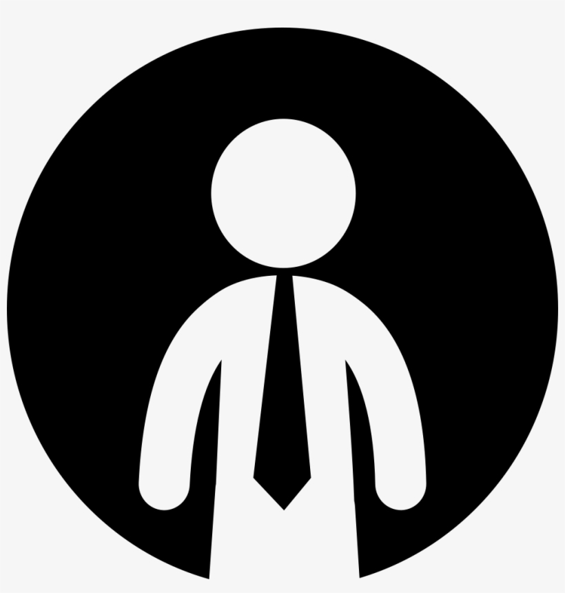 Businessman With Tie Inside A Circle Comments - Business Man