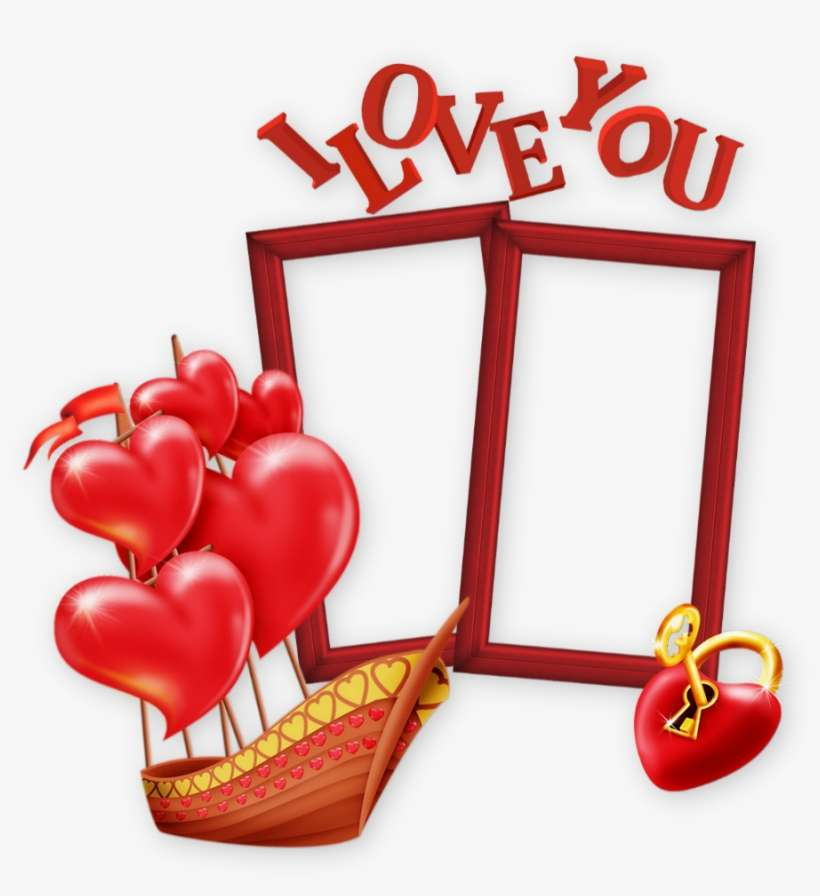 I Love You Valentines Day Frame Heart Png Image Transparent