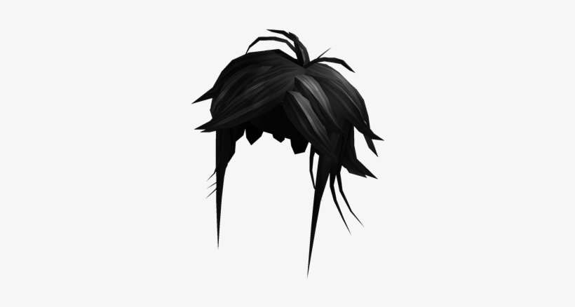 Black Manga Hero Hair Roblox Manga Hero Hair Png Image