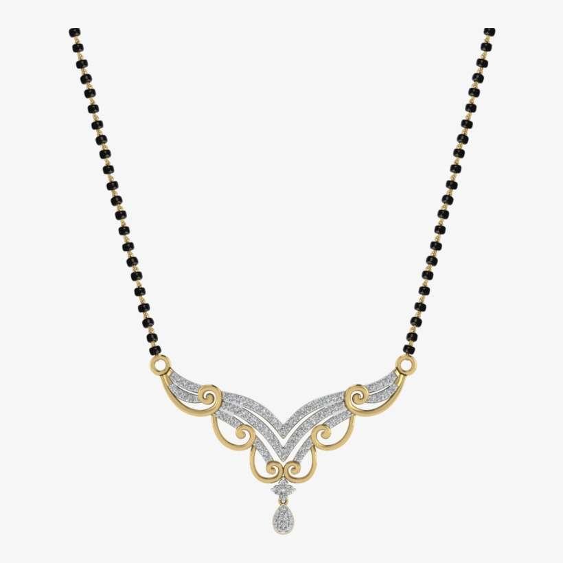 Womens 18 Karat Gold And Diamond Mangalsutra Pendant