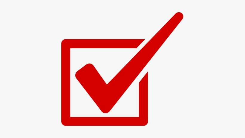 Red Check Mark Png About Us - Red Tick Symbol Png PNG Image ...