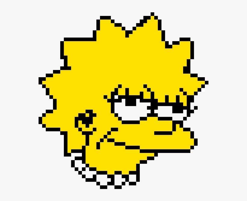 Lisa Simpson Pixel Arts Minecraft Templates Png Image