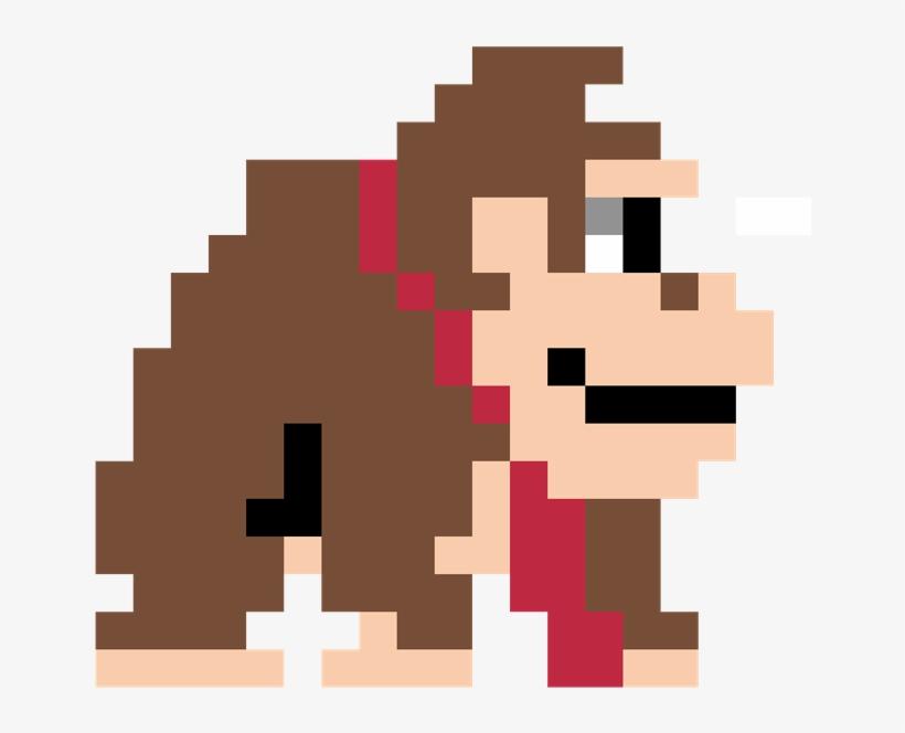 Donkeykong Sticker Nintendo 8bit Pixel Art Paint Bucket Png Image Transparent Png Free Download On Seekpng
