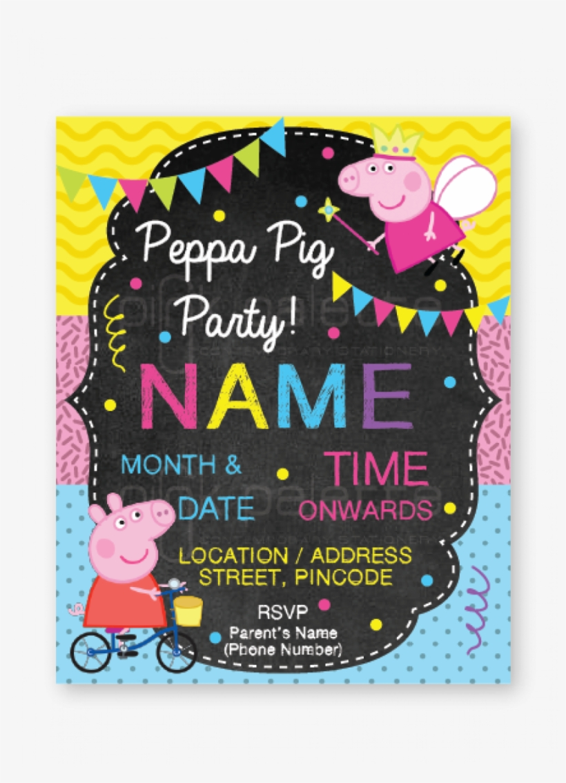 Peppa Pig Birthday E Invite Birthday Png Image Transparent Png