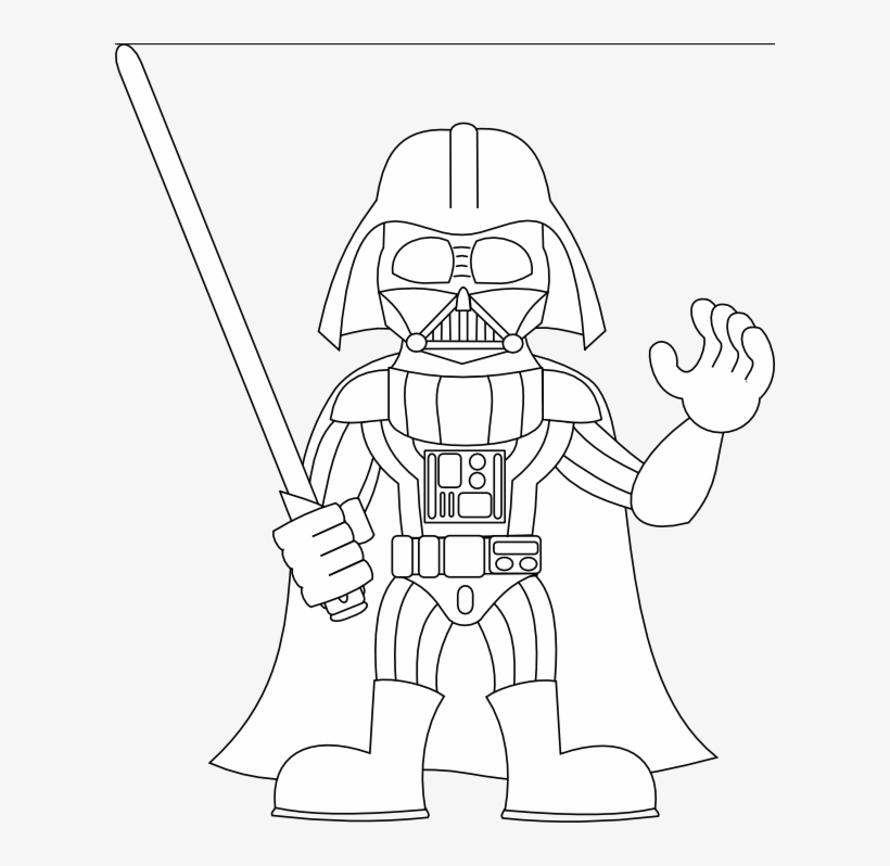 Stormtrooper 400 702 Pixels Draw Mini Darth Vader Png