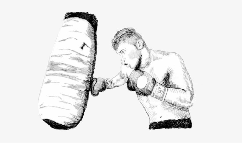Ilustración A Lápiz Dibujos De Boxeadores A Lapiz Png Image