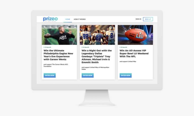 Prizeo, Charity Network's Online Sweepstakes Platform - Greatest