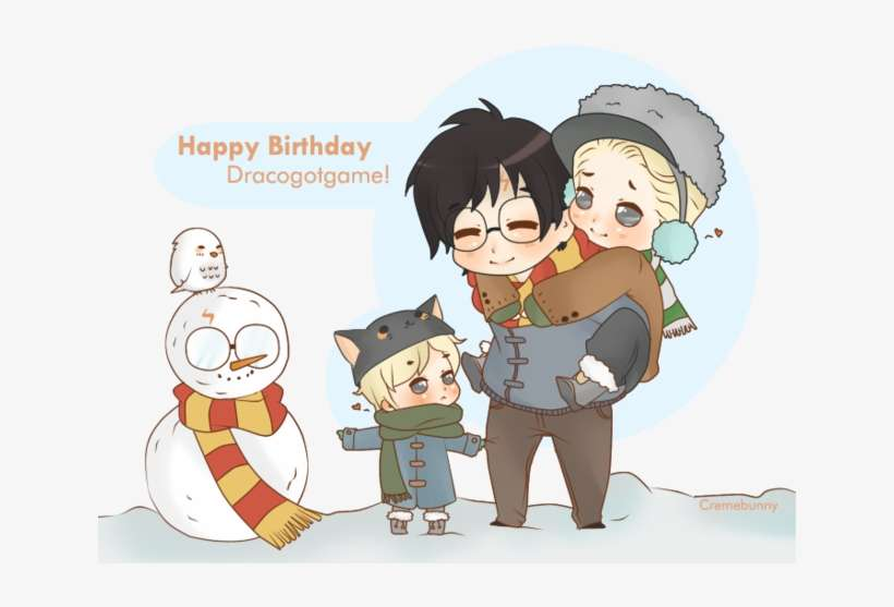 Dracogotgame - Harry X Draco Family PNG Image | Transparent PNG ...