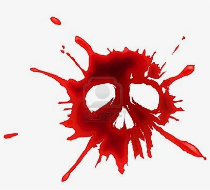 Blood Puddle Png For Kids - Blood Drop Skull PNG Image