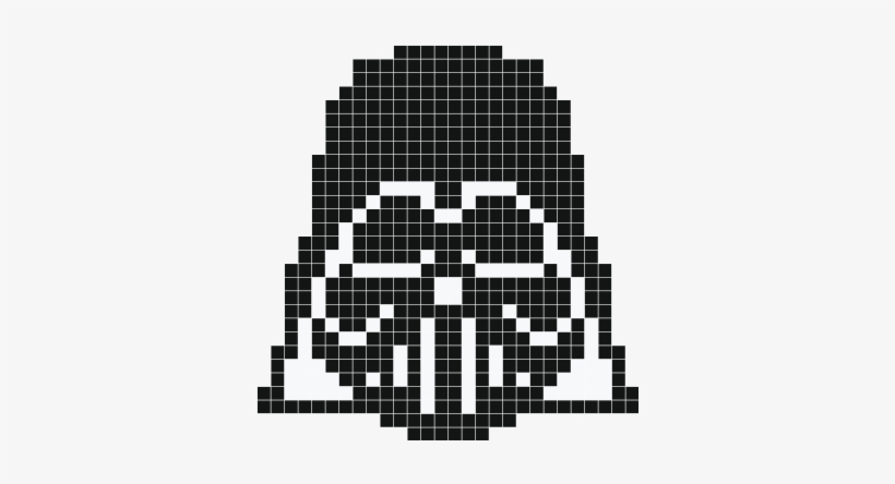 Darth Vader Pixel Art Dessin Pixel Dark Vador Png Image