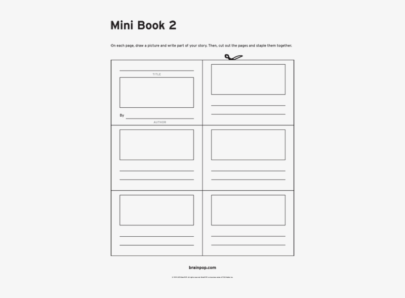 photo about Free Printable Mini Book Template identify Printable Mini Ebook Template - Mini Guide Template For Youngsters