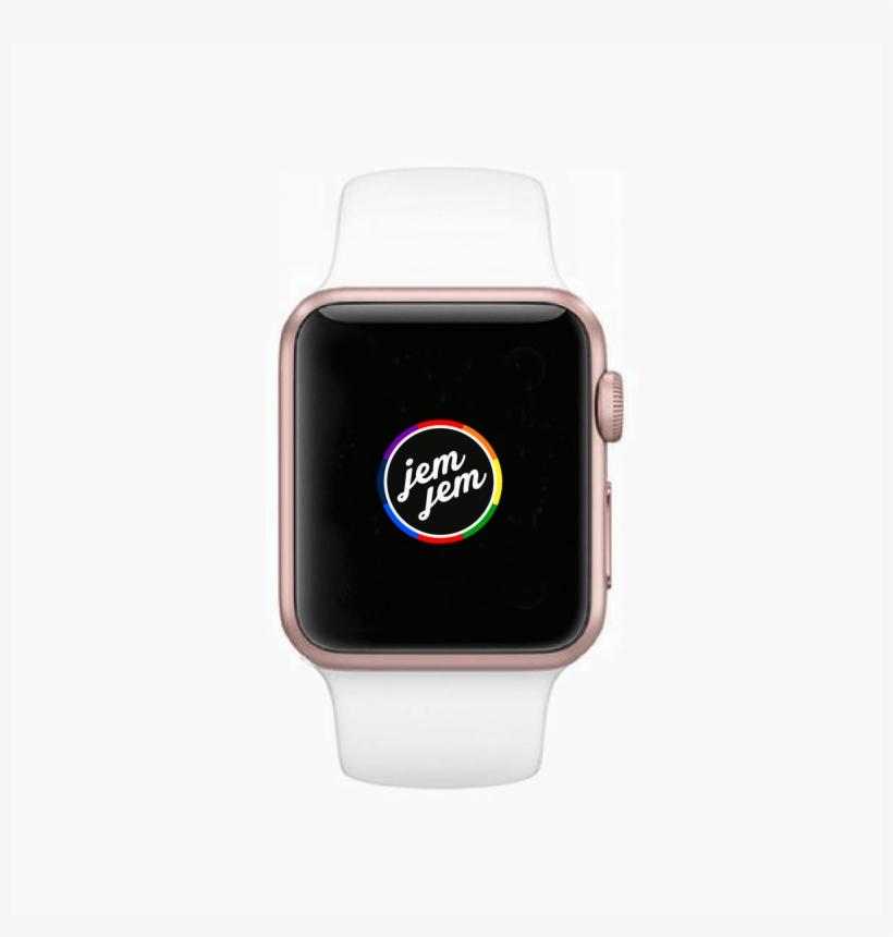Refurbished Apple Watch Sport 38mm Rose Gold Aluminum Apple Watch Series 1 38mm Aluminum With White Sport Png Image Transparent Png Free Download On Seekpng