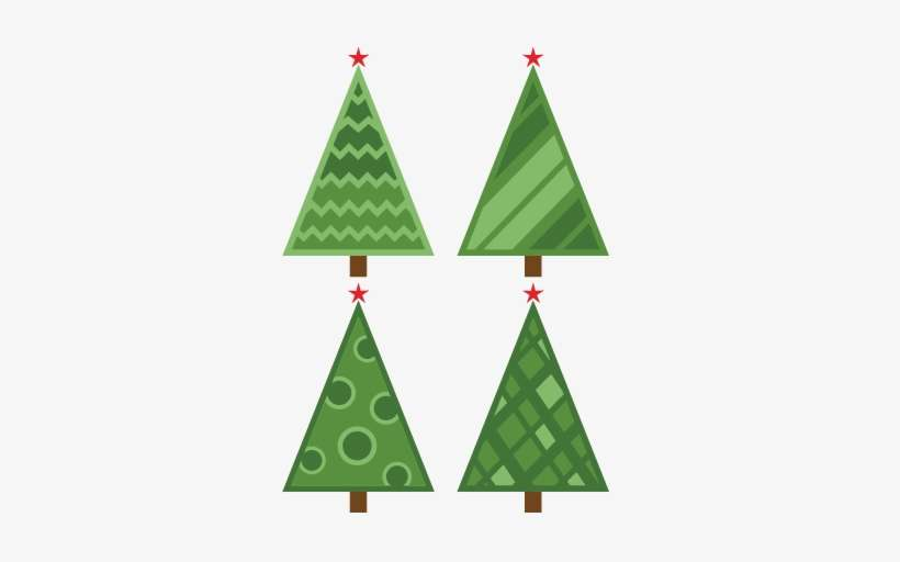 Christmas Tree Svg Free Download.Christmas Tree Set Retro Svg Scrapbook Cut File Cute