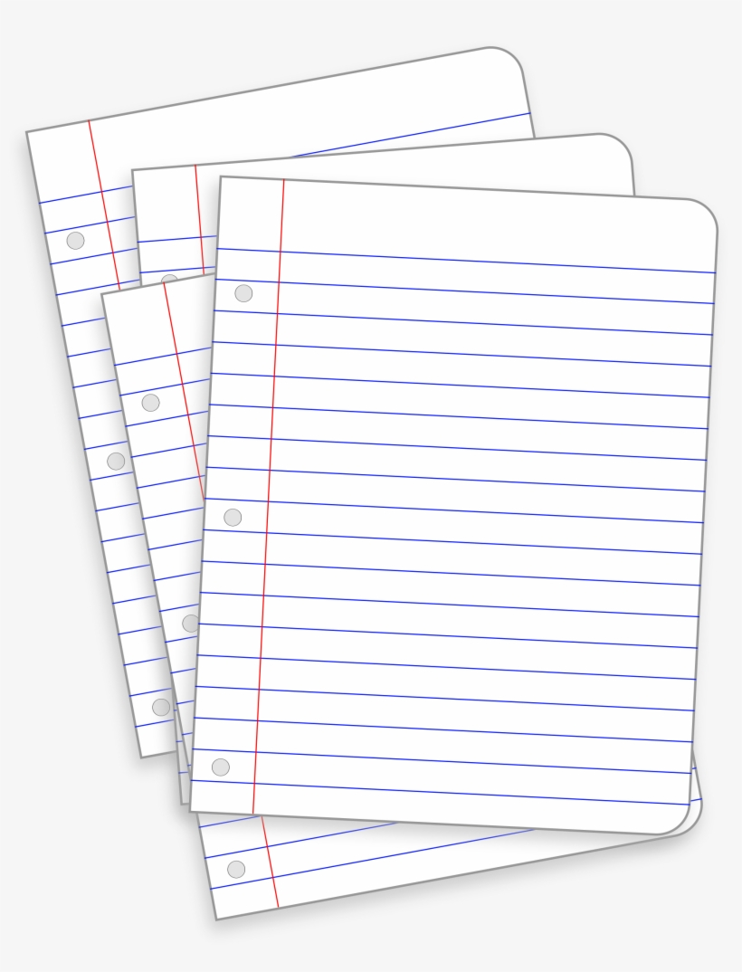Clipart Messy Lined Papers Template Picture 3 Paper - Paper PNG