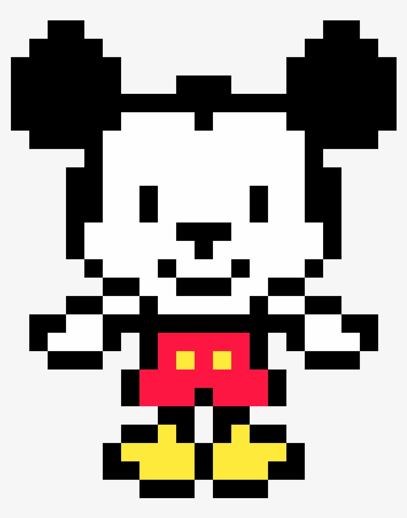 Mickey Mouse Pixel Art mickey mouse - pixel art de mickey mouse png image