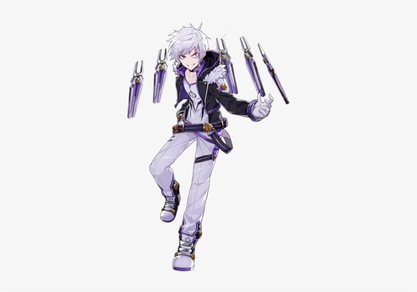Add Costume Elwiki Png Elsword Wiki Demon Purple Anime Elsword Add