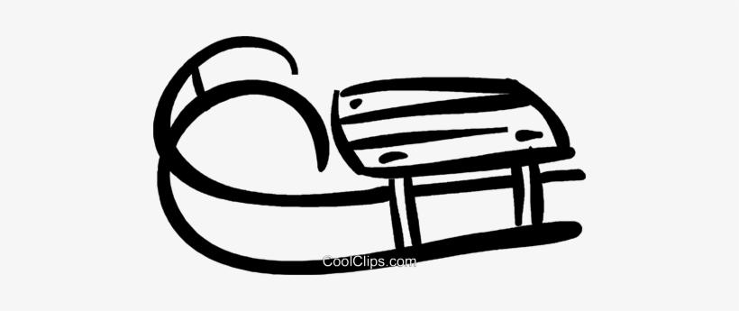 sled, toboggan Royalty Free Vector Clip Art illustration  -vc008678-CoolCLIPS.com