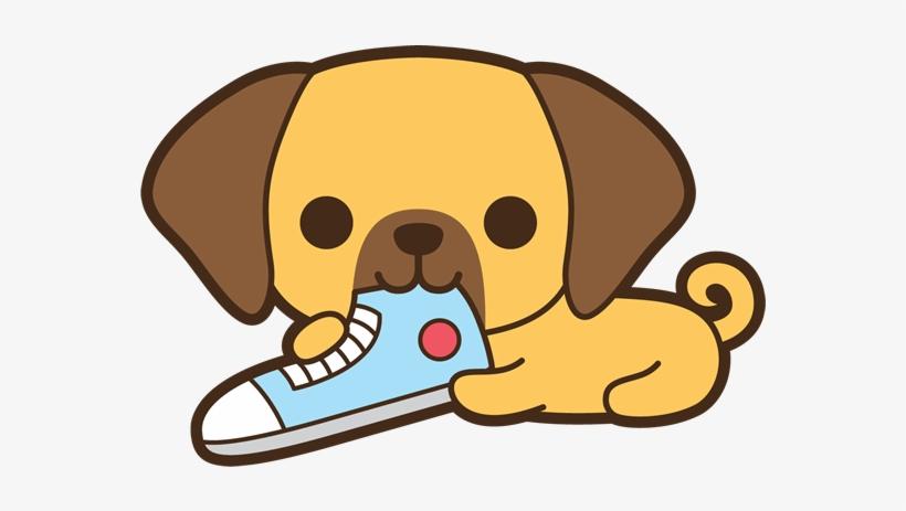 Dog Eating Shoe Kawaii Dog Clipart Png Image Transparent Png Free Download On Seekpng