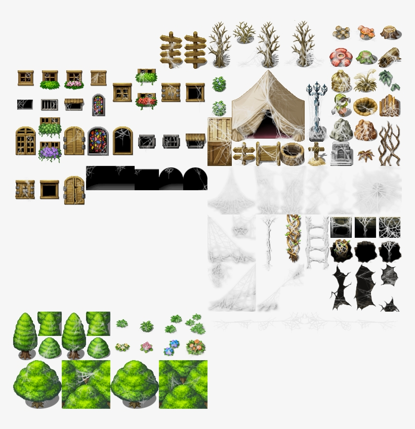 Img] - Rpg Maker Mv Outside Tileset PNG Image | Transparent PNG Free
