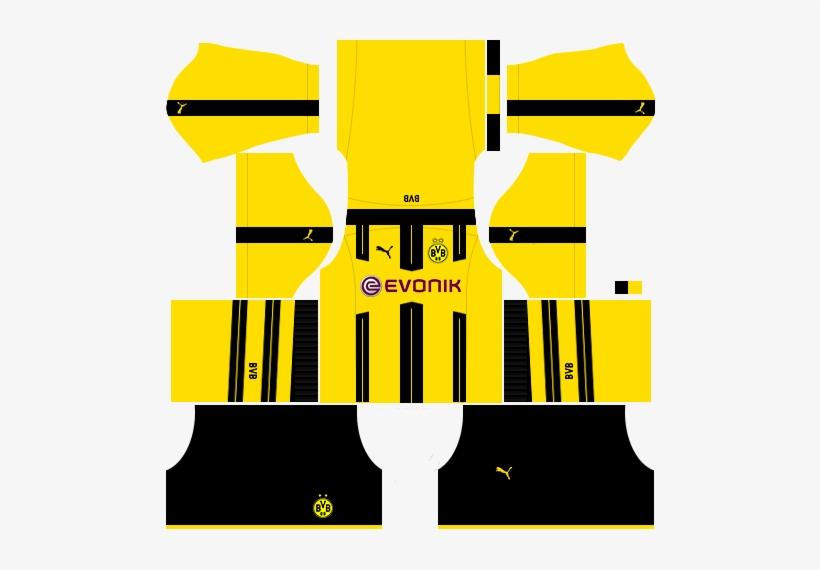 Borussia Dortmund Logo Png Kit Do Borussia Dortmund Para Dream League Soccer 2018 Png Image Transparent Png Free Download On Seekpng
